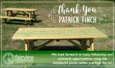 Thank You Patrick Finch