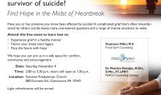 Are You A Survivor of Suicide? - Nov 4 2017 2:00 PM