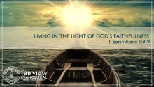 Living in the Light of God's Faithfulness