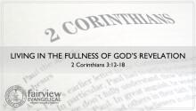 Living in the Fullness of God's Revelation