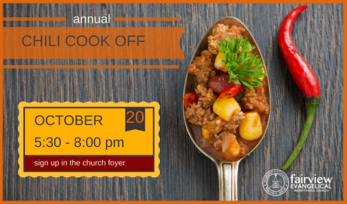 2018 Chili Cook Off - Oct 20 2018 5:30 PM