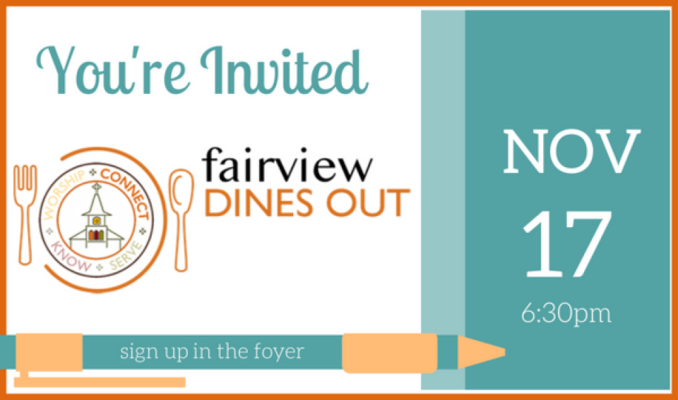 Fairview Dines Out - November 2018