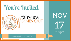 Fairview Dines Out - November 2018 - Nov 17 2018 6:30 PM