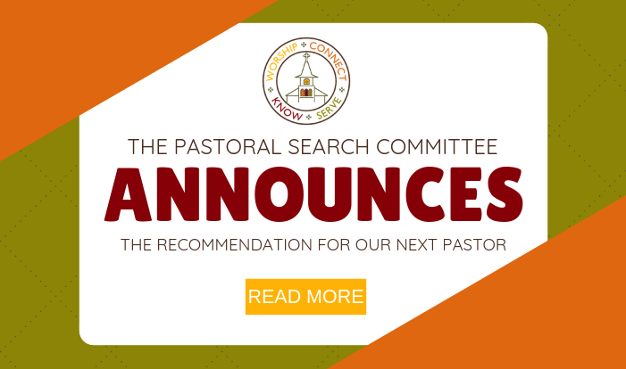 Pastoral Search Committee Announcement