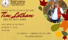 Welcome Tim Latham to Our Pulpit