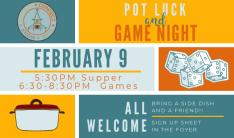 Game Night - Feb 9 2019 5:00 PM