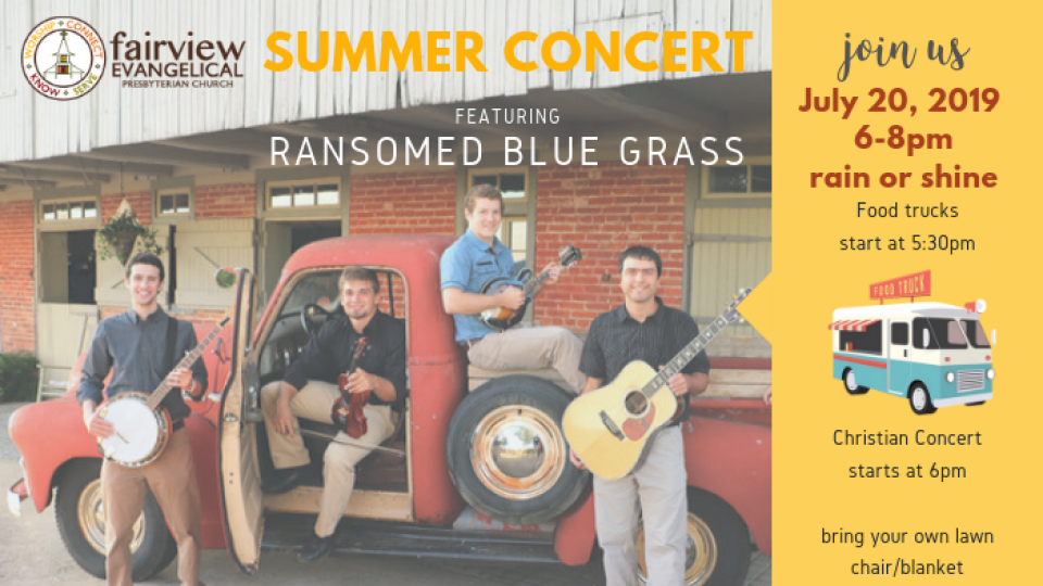Summer Concert with Ransomed Bluegrass