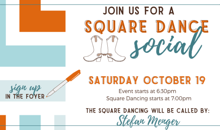 Square Dance Social - Oct 19 2019 6:30 PM