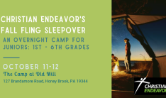 Christian Endeavor Camp - Oct 11 2019 7:30 PM