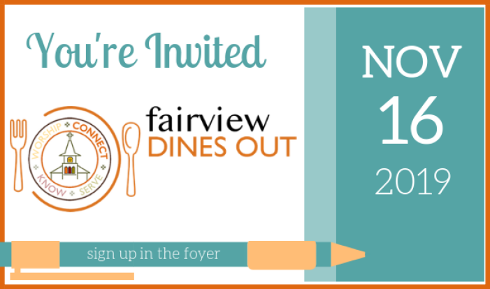 Fairview Dines Out - November 2019 - Nov 16 2019 6:30 PM