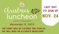 Christmas Luncheon 2019 - Dec 8 2019 11:30 AM