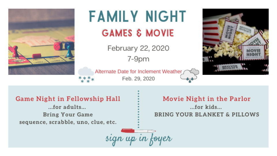 Family Game and Movie Night