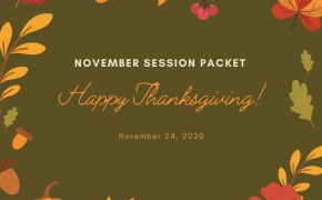 November 2020 Session Packet