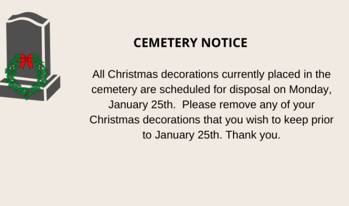 Removal of Seasonal Decorations